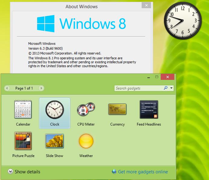 desktop gadgets in Windows 81.