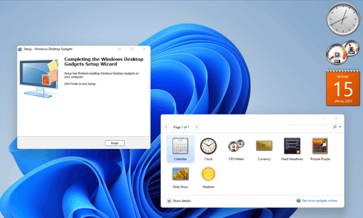 download Desktop Gadgets for Windows 11
